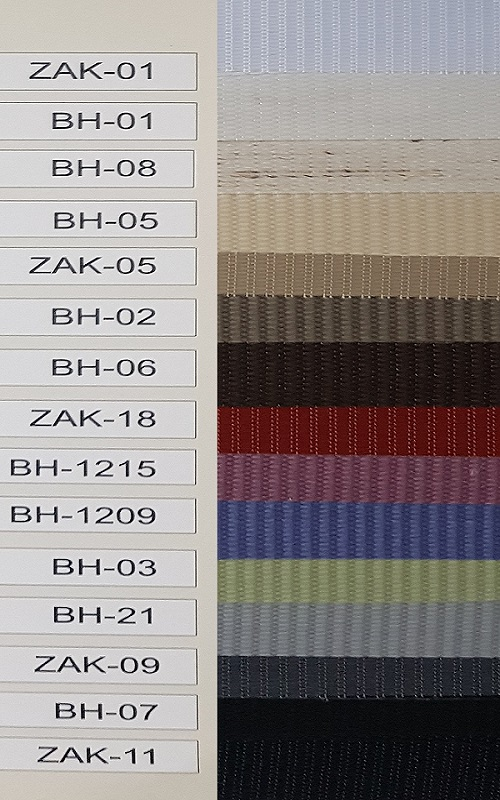 gamme complète des couleurs stores jour / nuit sur mesure eco-stores.fr