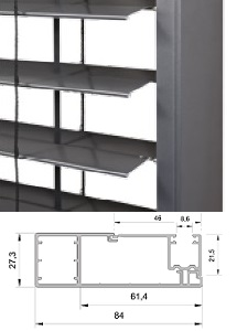 BSO - Coulisses SKF (larges) - Brise soleil orientable sur-mesure - eco-stores-fr