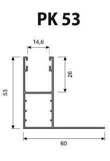 Volet Roulant Sur Mesure - Coulisses 53 mm PK53 (39 mm - 45 mm)