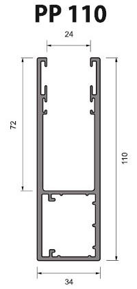 Volet Roulant Sur Mesure - Coulisses 110 mm - PP110 (PA 77 mm) ECO-STORES