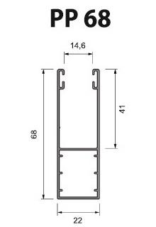Volet Roulant Sur Mesure - Coulisses 68 mm PP68 (39 mm - 45 mm)