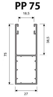 Volet Roulant Sur Mesure - Coulisses 75 mm - PP75 (PA 52 mm - PA 55 mm)