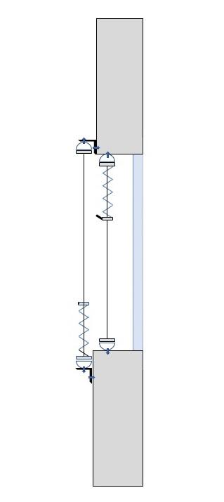 stores plissés sur mesure - fixation murale (petites équerres) ou plafond (clips)