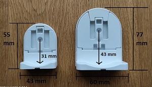 fixations S - M dimensions - store enrouleur sur mesure - qualité pro - eco-stores-fr