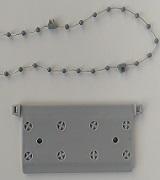 plaquettes de lestage et chaînettes basses grises pour store californien sur mesure - eco-stores.fr