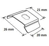 store plissé fixation standard - dimensions - stores sur mesure